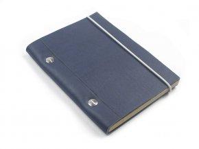 Carnet en cuir A6 - Cobalt