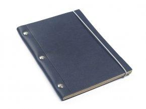 Carnet en cuir A5 - Cobalt