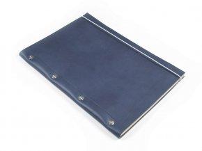 Carnet en cuir A4 - Cobalt