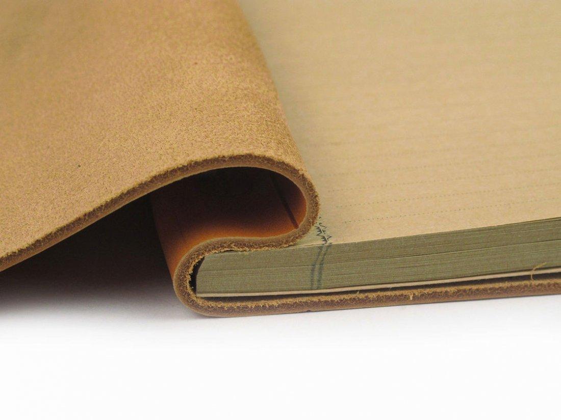 Carnet en cuir A5 - Gold