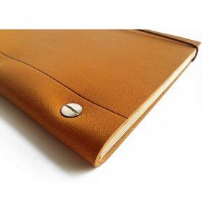 Carnet en cuir A4 - Gold