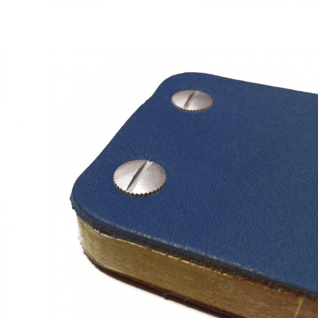 Carnet en cuir iKone - Cobalt