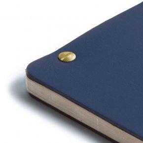 Carnet en cuir iKraft - Cobalt