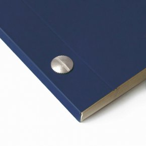 Carnet en kraft A6 - Bleu