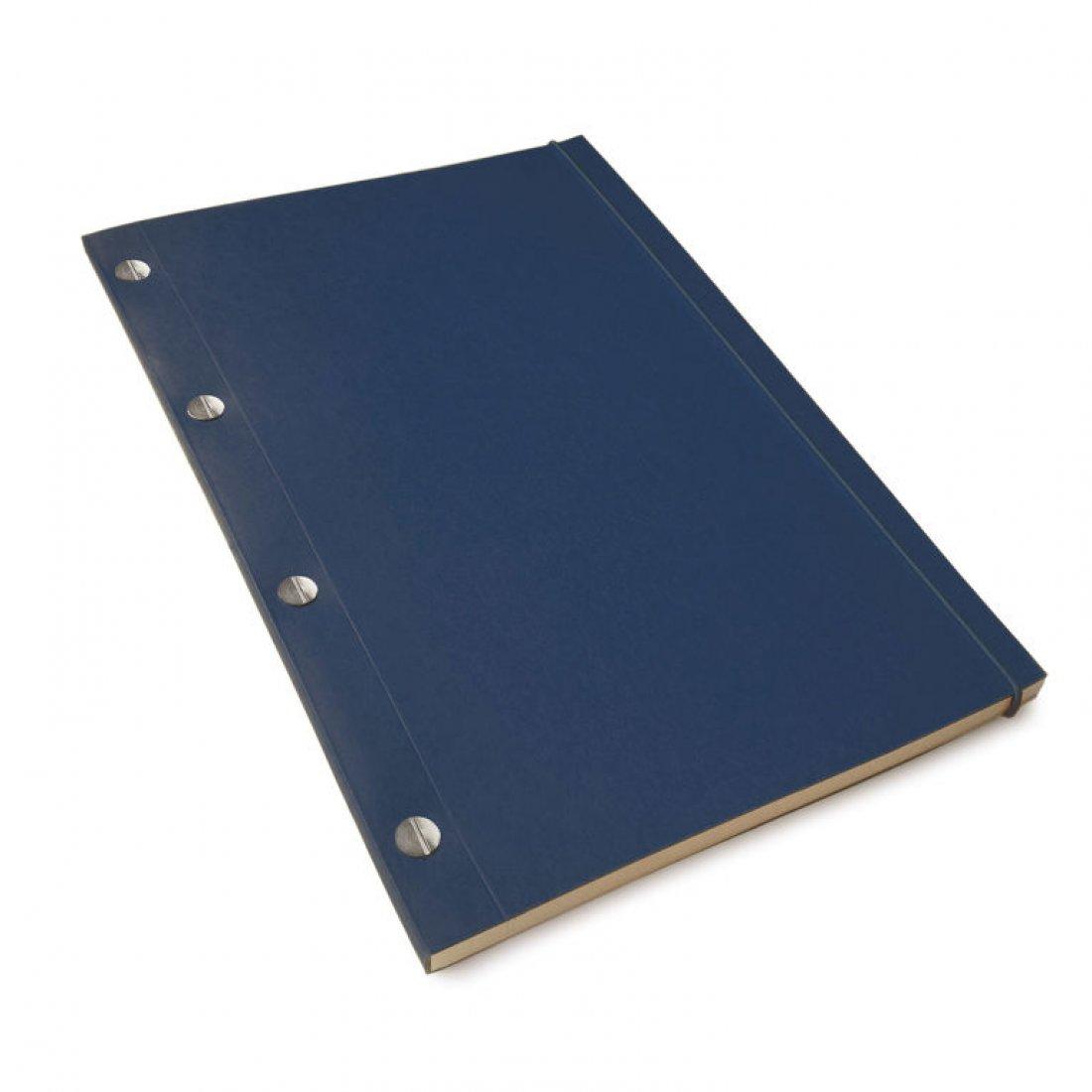 Carnet en kraft A4 - Bleu