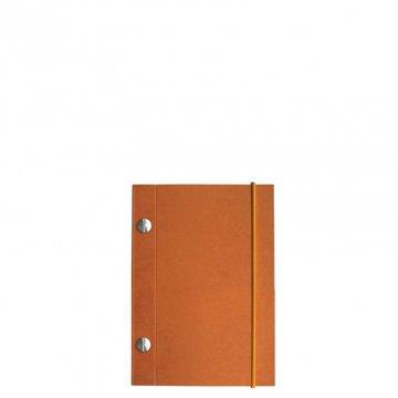 Carnet en kraft A6 - Orange Italien