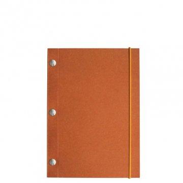 Carnet en kraft A5 - Orange Italien
