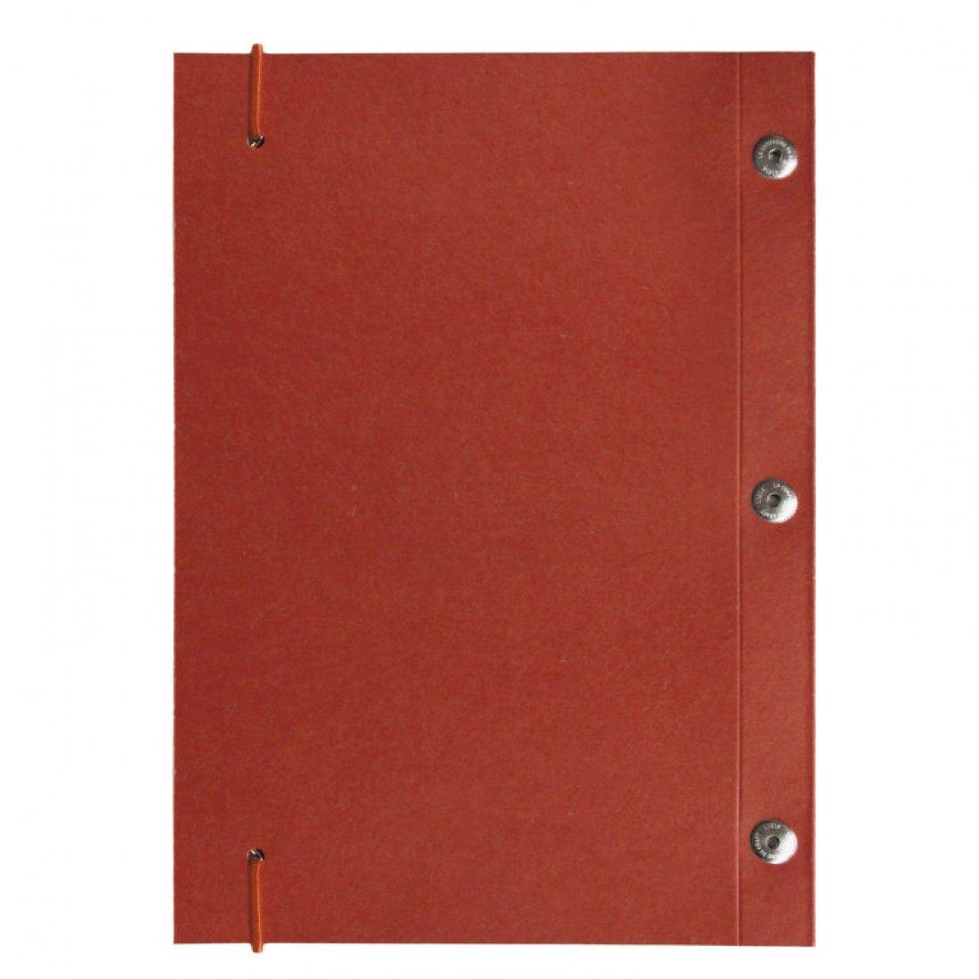 Carnet en kraft A5 - Rouge