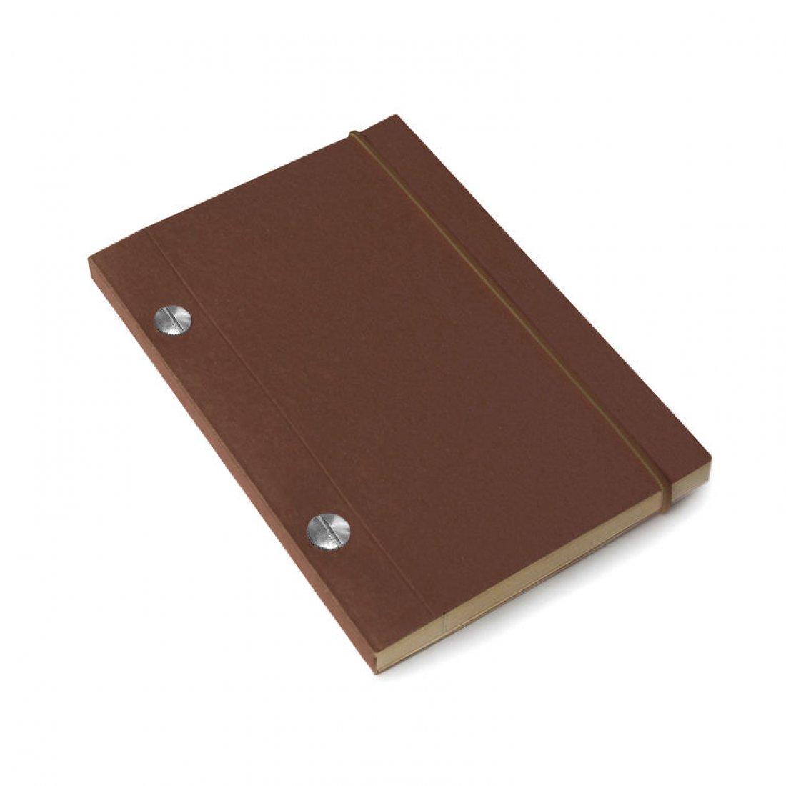 Carnet en kraft A6 - Chocolat