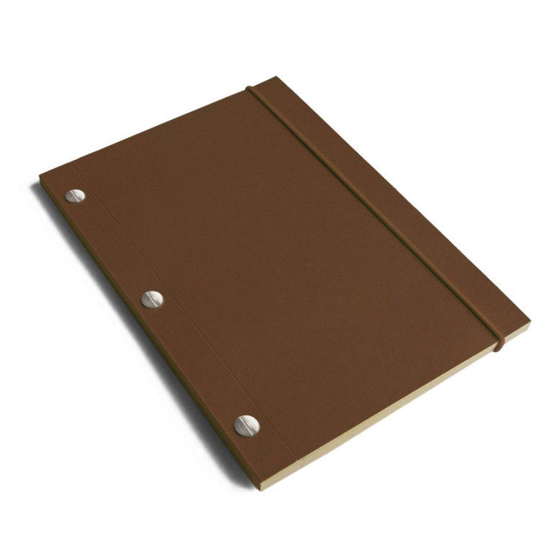 Carnet en kraft A5 - Chocolat